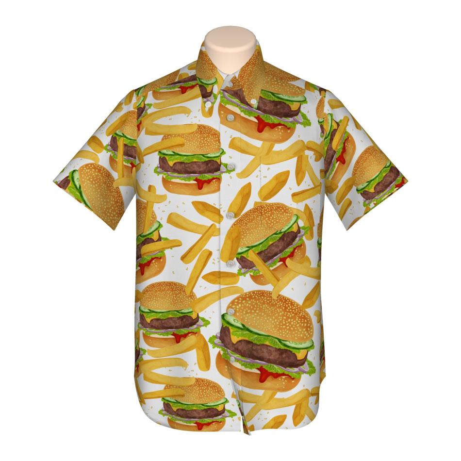 ハンバーガー シャツ 3D