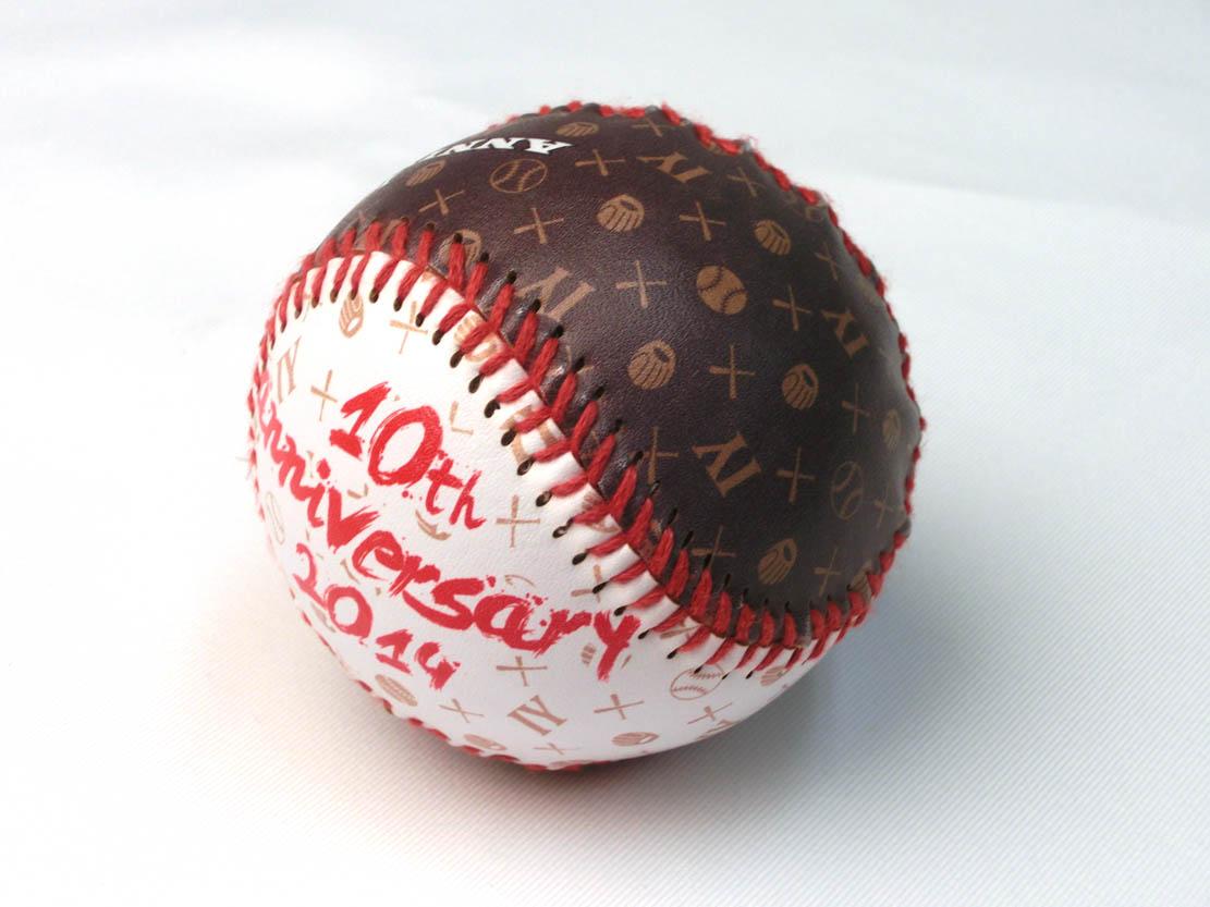 野球ボールに全面プリント